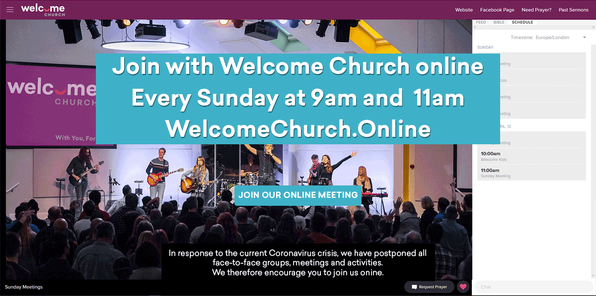 Welcome Church Online